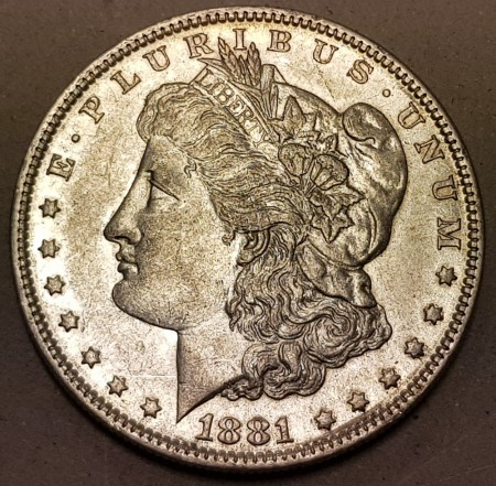 Morgan dollar 1881 O kv. 1+