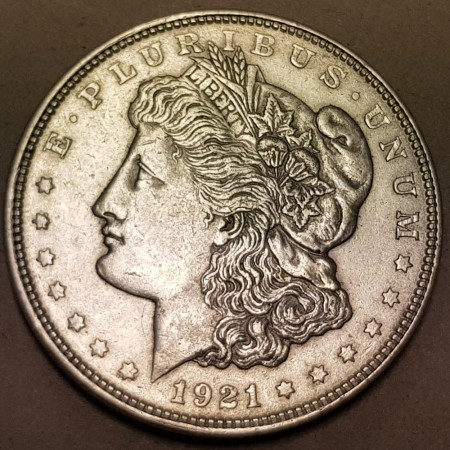 Morgan dollar 1921 kv. 1/1+