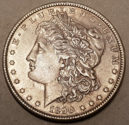Morgan dollar 1890 kv. 1