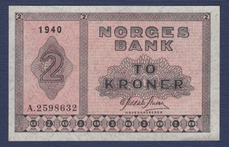2 kr 1940 - 1950 Type II